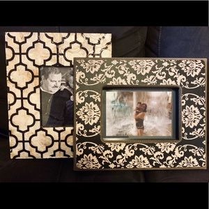 2 beautiful frames made of sea shell & thick wood